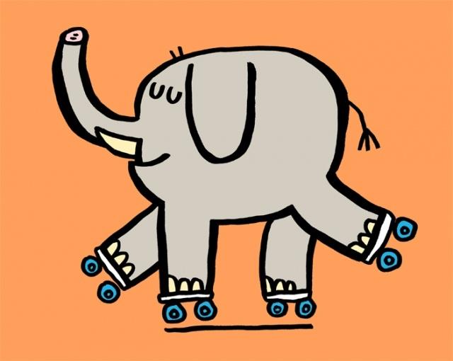 Travis Foster- elephant skating