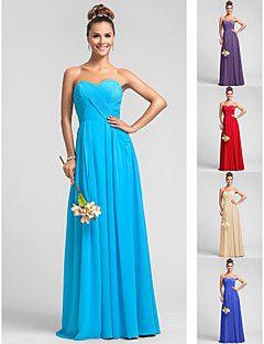 Bridesmaid Dress Floor Length Chiffon Dress Sheath Column Sw... – USD $ 69.99