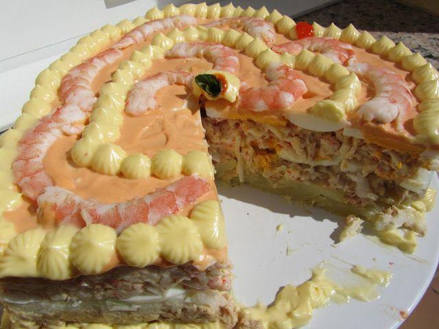 Tarta de langostinos - Blog con recetas sencillas, rápidas y económicas de Thermomix realizadas por Ana Sevilla