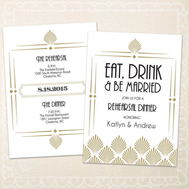 Art Deco Wedding Rehearsal Dinner Invitation Template, INSTANT DOWNLOAD - Editable Text - Art Deco Shell, 5 x 7, PDF by VineWedding on Etsy https://www.etsy.com/listing/238835680/art-deco-wedding-rehearsal-dinner