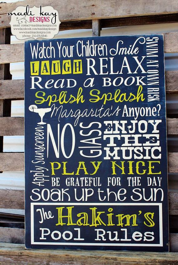 95 best summer pool signs lake signs cabin signs beach for Pool design rules