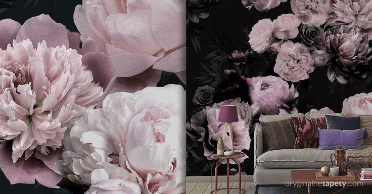 Tapeta W Piwonie Do Salonu Flowers Wallpaper Home Decor Decor Home