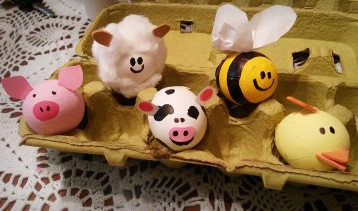 cascarones de huevos decorados