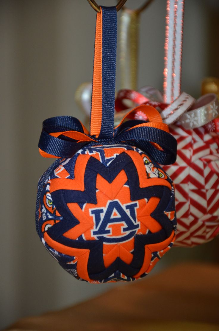 Auburn christmas ornaments - No Sew Quilted Ornament Auburn