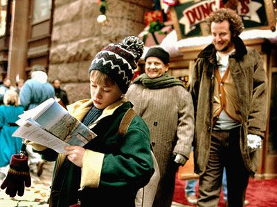Home Alone and Home Alone 2. Home Alone 2 is my favorite out of the two, but both are brilliant.