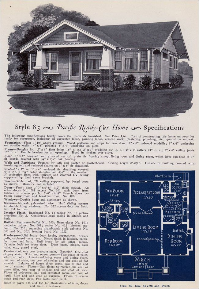 406 best images about historic craftsman bungalow on for Pacific homes kit homes