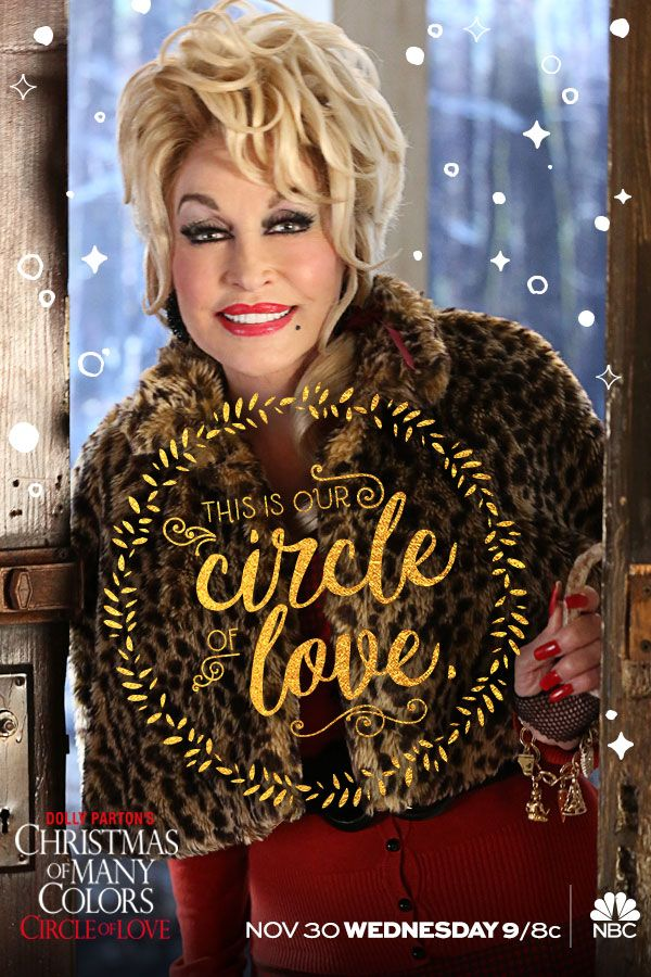 'Tis the season to be Dolly! Dolly Parton's Christmas of Many Colors: #CircleOfLove kicks off the holidays Wednesday, November 30 at 9/8c on NBC.