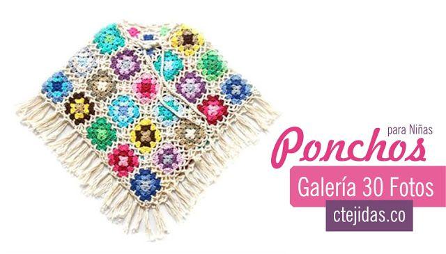 31 Fotos de Capas y Ponchos para niñas a Crochet