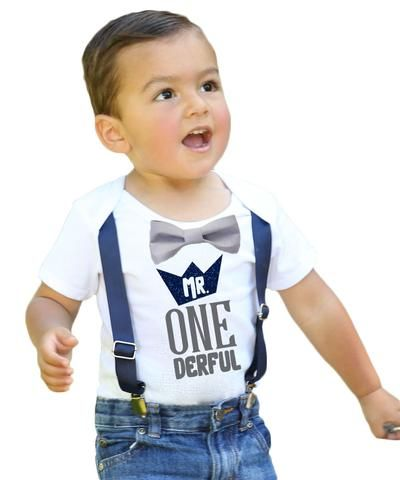 Mr Onederful First Birthday Outfit Black and Gold with Suspenders in ... e7ea79834