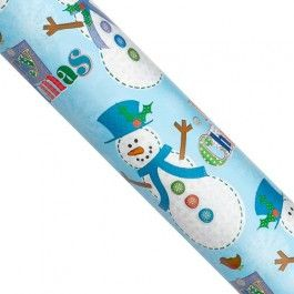 3m of wrapping paper in festive snowmen design! Part of our 3 for £1 offer. Choose from 8 christmassy designs. Matching tags available.