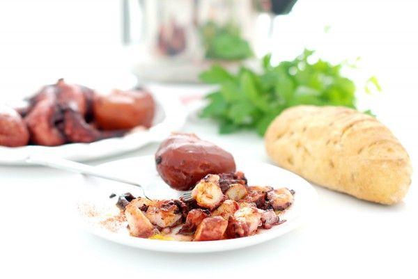 Pulpo en 8 minutos con patatas, en olla rápida