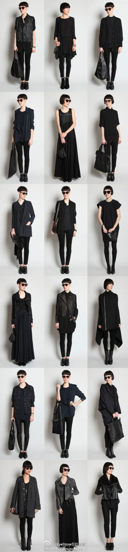 black on black on black - makes for a perfect capsule wardrobe