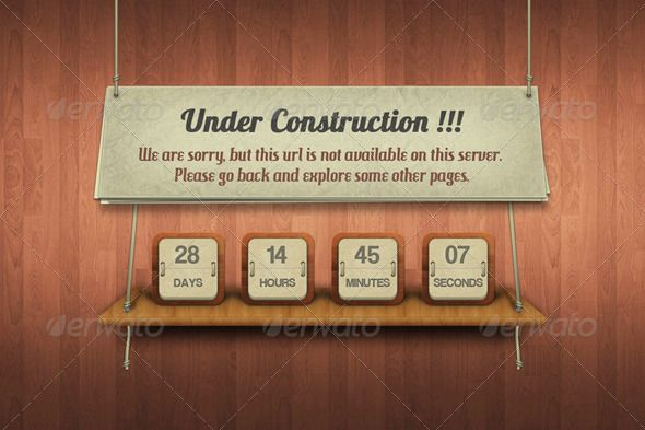 Under Construction - 404 Pages Web Elements Download here…