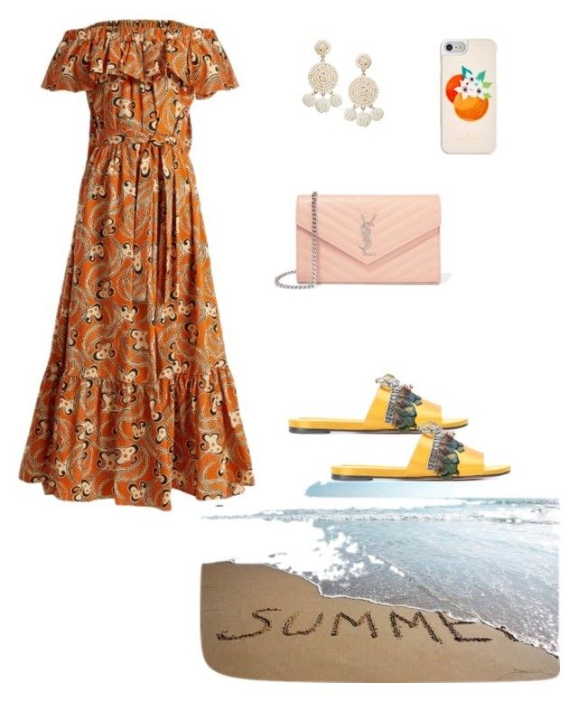 """""""#summer#longdress#beach"""" by joe-khulan on Polyvore featuring La DoubleJ, Rochas, Yves Saint Laurent, Humble Chic and Kate Spade"""