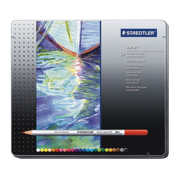 Staedtler Karat Aquarell Professional Watercolour Pencil 24 Colors 125 M24 #Staedtler