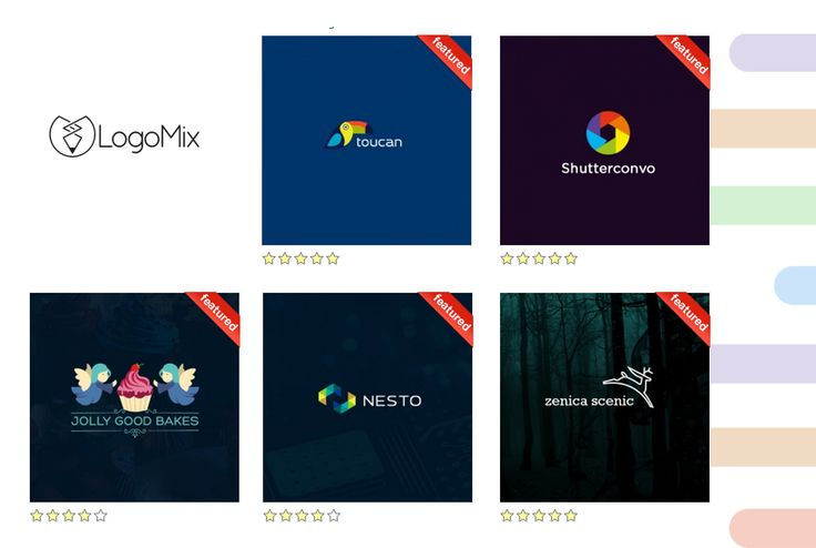 Featured logos in Logomix™