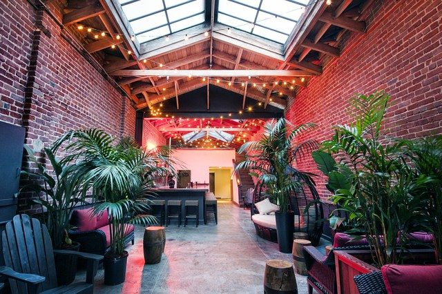 At the dead end of Natoma Street in San Francisco's FiDi neighborhood, disappear into the tropical foliage of Natoma Cabana, a hidden hot spot where a wicker cocoon swing, Adirondack chairs, and AstroTurf carpet complete the outdoor vibe, despite the artistically graffitied façade. Welcome to island paradise with the happy-hour hipster set. This is a drinks-only situation, where the cocktails are expertly executed and strong enough for the after-work crowd. Try a Caribbean Zone (white rum…