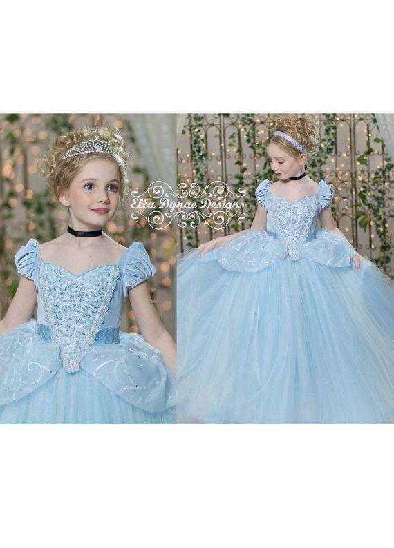 Etsy の Cinderella Costume Princess Gown Tutu Dress by EllaDynae