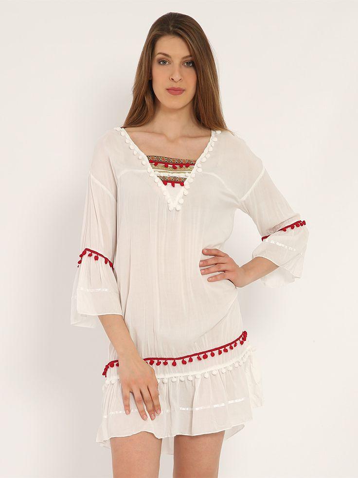 Φόρεμα με πον πον - 19,98 € - http://www.ilovesales.gr/shop/forema-me-pon-pon/ Περισσότερα http://www.ilovesales.gr/shop/forema-me-pon-pon/