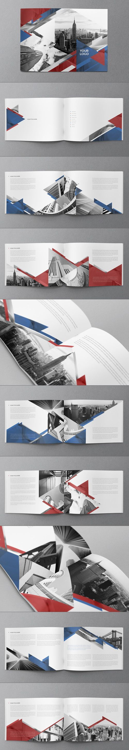 15 Creative Print Ready Business Brochure Designs | Design | Graphic Design…