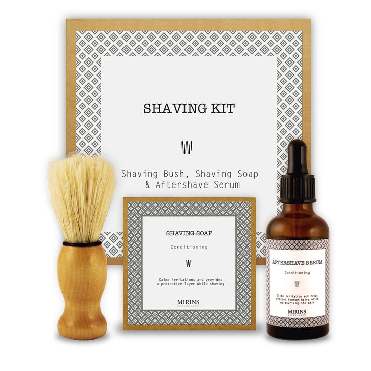 Shaving Kit The men in your life will love this luxurious yet simple shaving kit; perfect for home or travel!   Includes shaving soap, shaving brush and aftershave serum