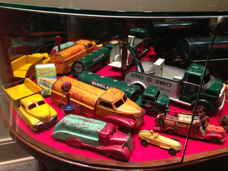 Out of Ron Carey's collection at Gasoline Alley, Calgary. Petroliana toys.