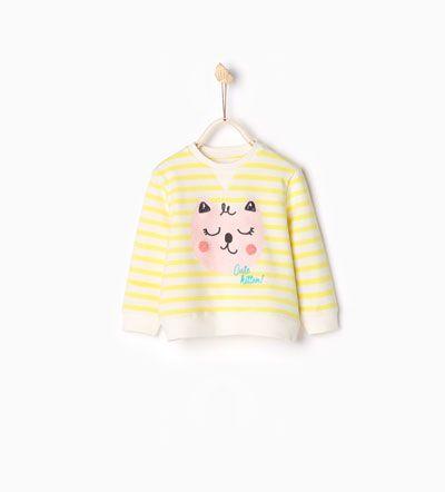 Printed sweatshirt-SWEATERS AND CARDIGANS-BABY GIRL | 3 months-3 years-KIDS | ZARA Hungary