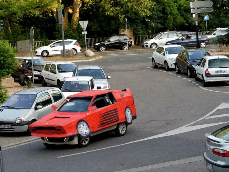 Cardboard Ferrari!