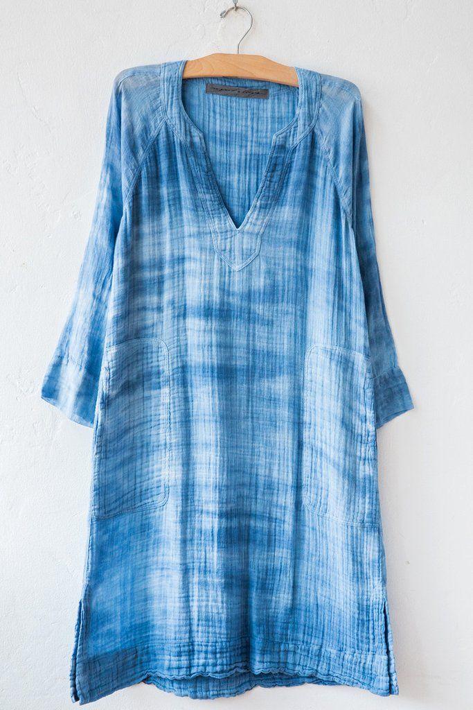 raquel allegra denim beach dress