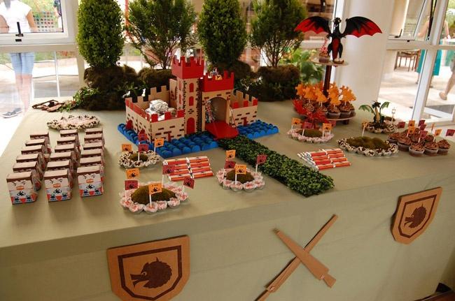castle dessert table