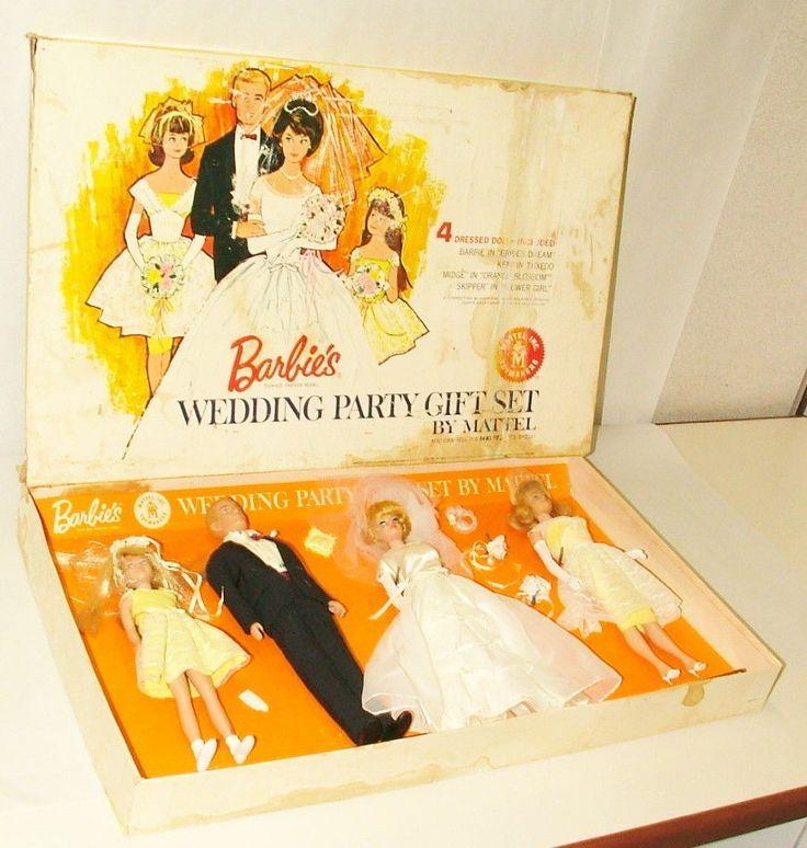% 1963 mattel barbie wedding day t set plete in