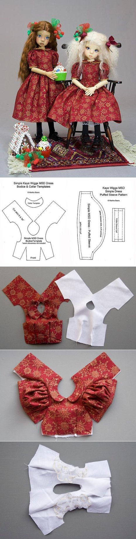 Dress and apron for the doll * Pattern * PHOTO MK