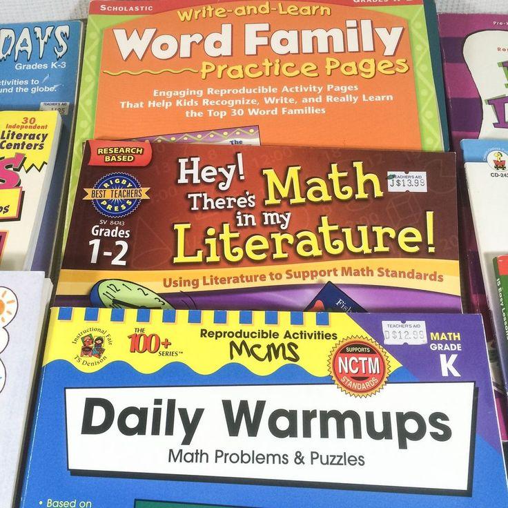 Home School Teaching Supplies  Lot K-2 Assorted Elementary Subjects 14 Workbooks #MixedLotOfBrands