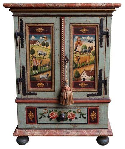 painted Austrian cupboard