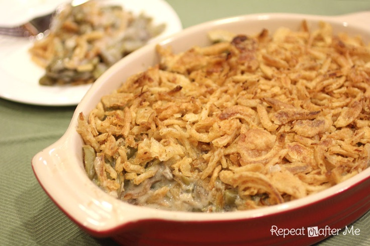 Crock Pot Green Bean Casserole - one less dish in the oven for Thanksgiving.