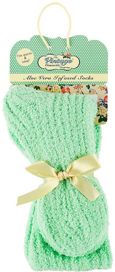 The Vintage Cosmetic Company The Vintage Cosmetics Company Aloe Vera Infused Cosy Socks - Mint