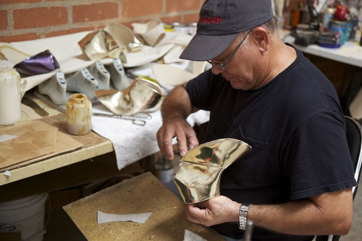 Each pair of Sydney Brown's shoes take approximately 20 hours to make http://the-acey.com/designers/sydney-brown.html