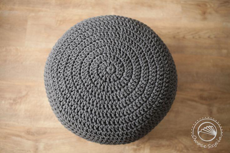 Pufa robiona na szydełku | Crochet pouf #owoceszycia