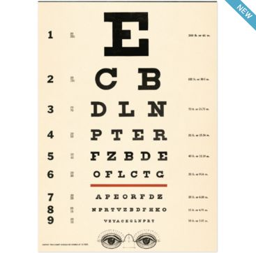 Eye Chart - wrapping paper from Cavallini & Co. Available at Bobangles.