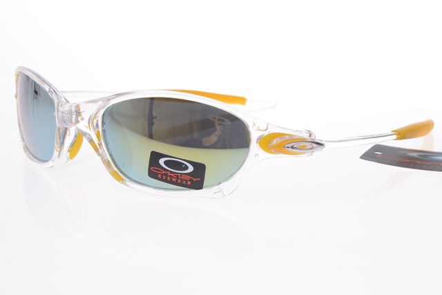 Oakley Gascan Sunglasses Yellowe White Frame Colorful Lens 0491