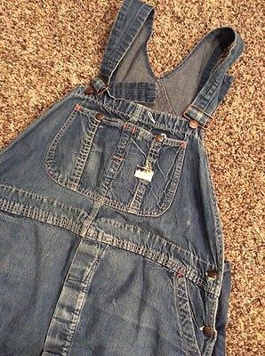 Vintage 1960's Big Mac Denim Work Overalls Union Made Sanforized 38x29