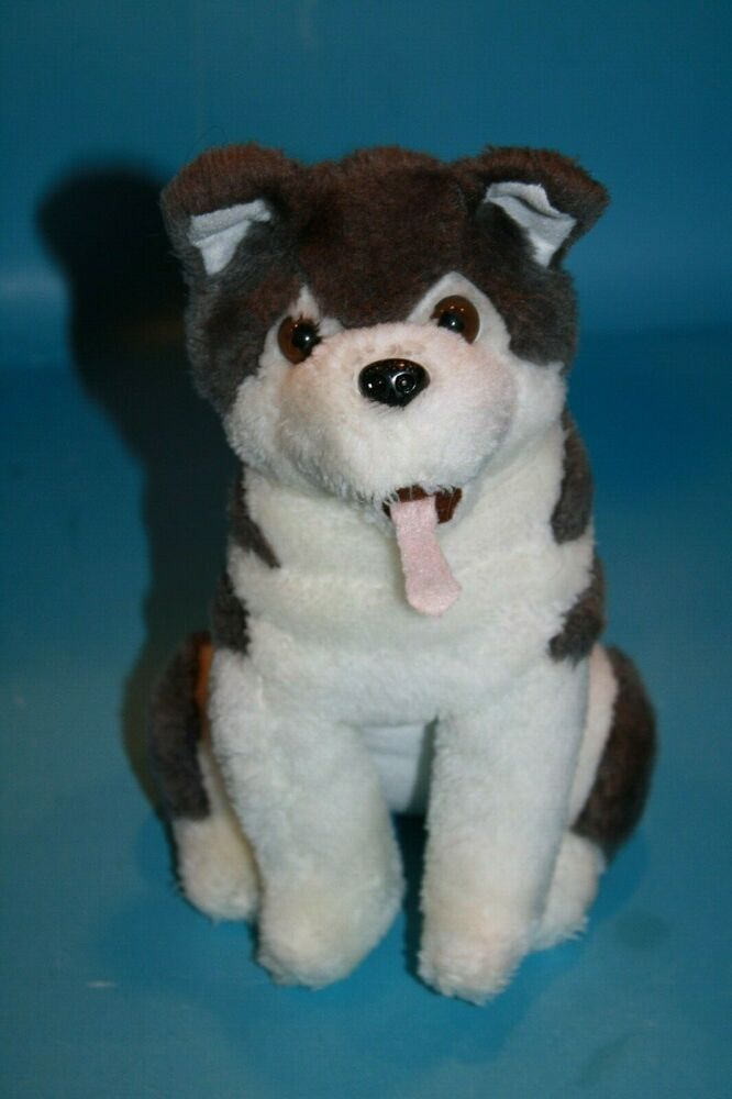 Details About Siberian Husky Dog 10 Plush Stuffed Soft Toy
