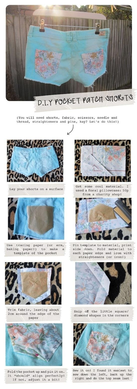 #diy: pocket patch shorts.