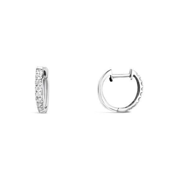 Cubic Zirconia Hoop Earrings  Pave Earrings  by Siroccadiamond