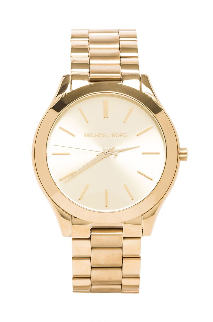 Michael Kors Slim Classic Watch in Gold from REVOLVEclothing