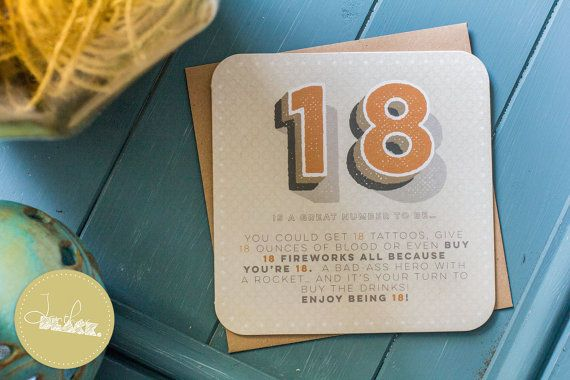 18th Birthday Card by LantherBlack on Etsy