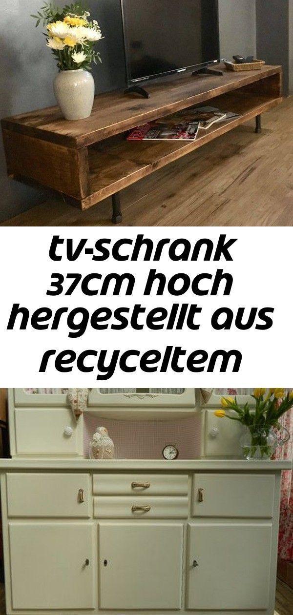 Tv Schrank 37cm Hoch Hergestellt Aus Recyceltem Holz Und Industriestahl Tischma In 2020 Tv Schrank Schrank Mobel Aus Weinkisten
