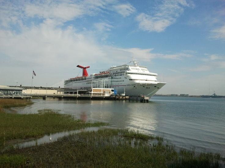 Huge Cruise Ship In Charleston SC Charleston South Carolina - Charleston sc cruise ships