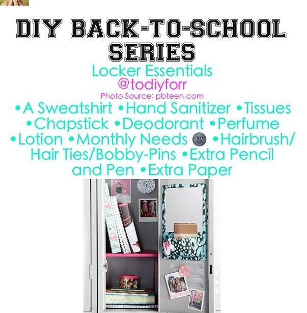 locker essentials <3