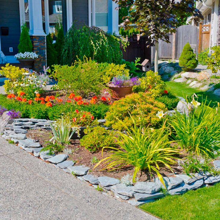5 favorite flower bed edging ideas log planter flower